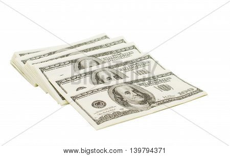dollars cash concept  isolated on white background