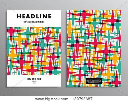 business brochure template or layout design flyer in A4 size with stars on background. stock vector illustration eps10