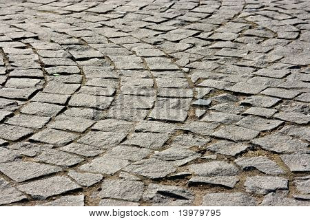 Paving blocks background near the orthodox church