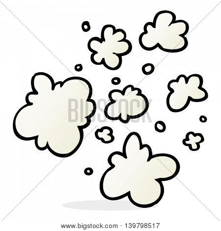 freehand drawn cartoon decorative smoke puff elements