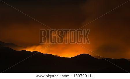 Sand Fire Smoke Drifts