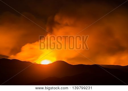 Flame Burst In Sand Fire