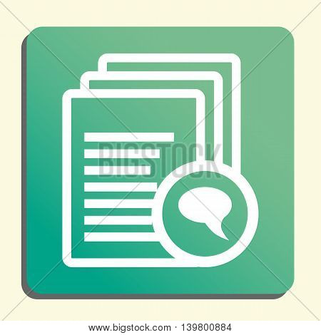 Files Discussion Icon In Vector Format. Premium Quality Files Discussion Symbol. Web Graphic Files D