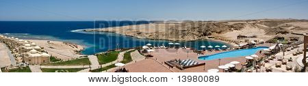 View at the beautiful lagoon of red sea