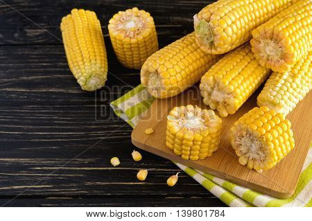 Fresh Sweet Corn On Cobs