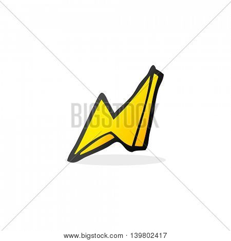 freehand drawn cartoon lightning bolt doodle