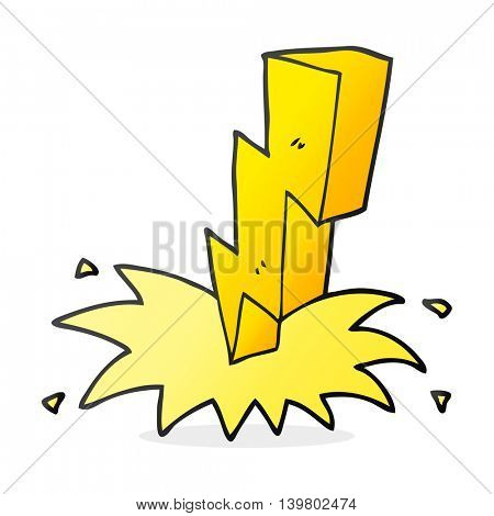 freehand drawn cartoon lightning bolt