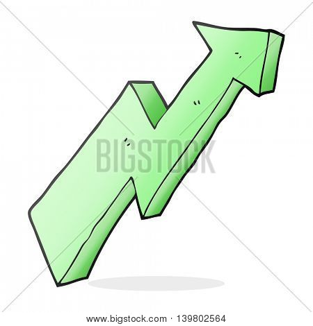 freehand drawn cartoon arrow up trend