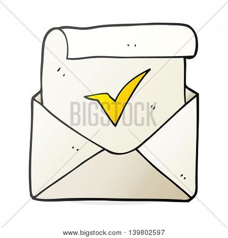 freehand drawn cartoon positive letter