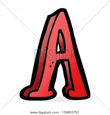 cartoon letter A