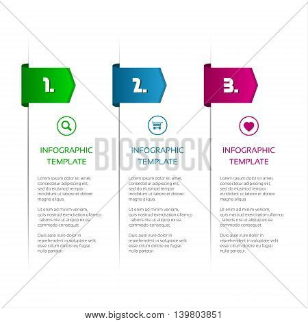 Infographic template for your project minimalistic design vector illustration