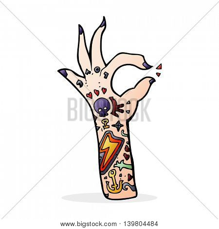cartoon tattoo arm