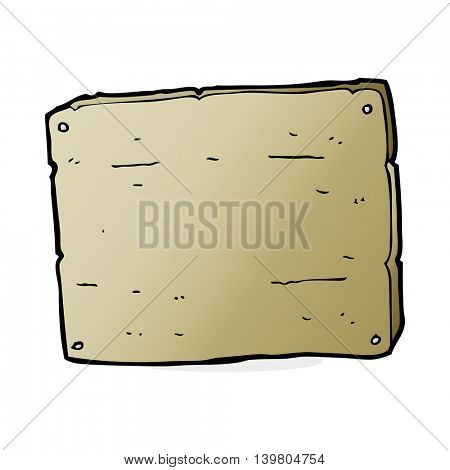 cartoon wooden board