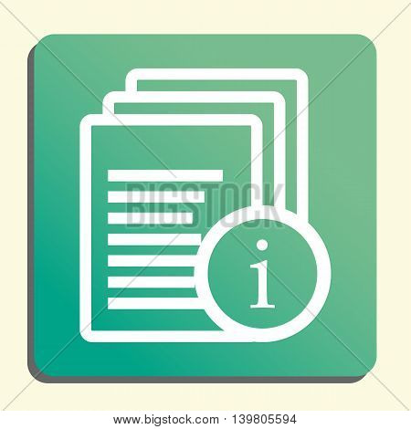 Files Info Icon In Vector Format. Premium Quality Files Info Symbol. Web Graphic Files Info Sign On