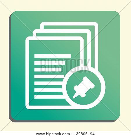 Files Pin Icon In Vector Format. Premium Quality Files Pin Symbol. Web Graphic Files Pin Sign On Gre