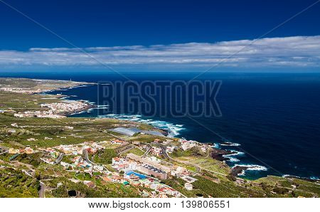 Aerial View On The Northern Coastline Of Tenerife