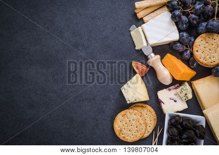Cheese Selection Border Background