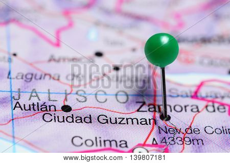 Ciudad Guzman pinned on a map of Mexico