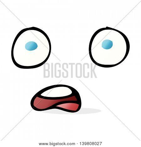 shocked cartoon face
