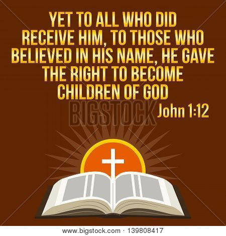 Christian Motivational Quote. Bible Verse. Cross And Shining Sun - Resurrection Concept, Symbols.