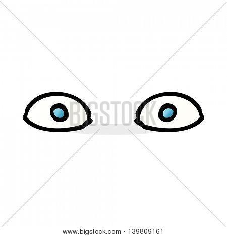 cartoon staring eyes