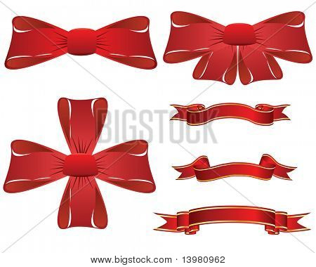 Set of different vector Christmas elements for design use