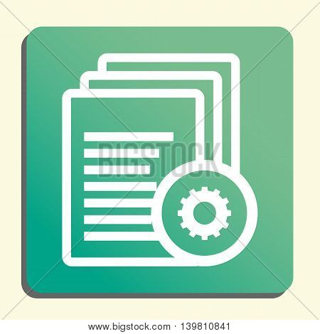 Files Settings Icon In Vector Format. Premium Quality Files Settings Symbol. Web Graphic Files Setti