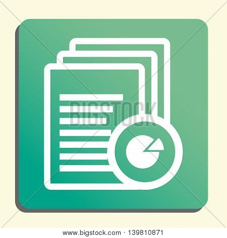 Files Pie Graph Icon In Vector Format. Premium Quality Files Pie Graph Symbol. Web Graphic Files Pie