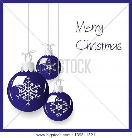 Shiny Blue Christmas Decoration Baubles Hanging Eps10