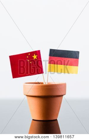 Flags Of Germany And China