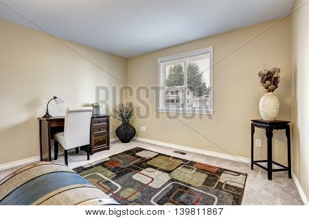 Home Office Interior Decorated With Dry Bushes