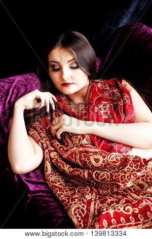 Beautiful Indian Woman Sleeping