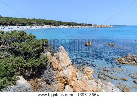 beautiful sea in orosei gulf in sardinia italy