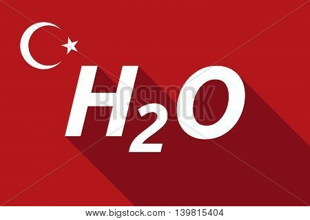 Long Shadow Turkey Flag With    The Text H2O