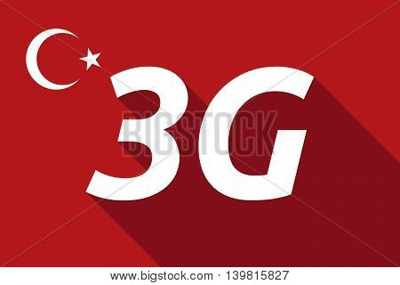 Long Shadow Turkey Flag With    The Text 3G