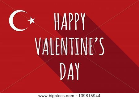 Long Shadow Turkey Flag With    The Text Happy Valentines Day