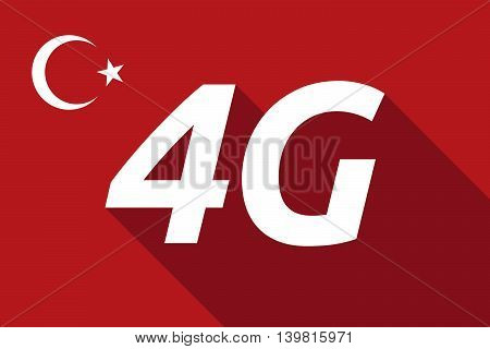 Long Shadow Turkey Flag With    The Text 4G