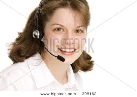 Female Operator With Headset
