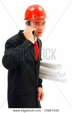 Young Talking On The Phone