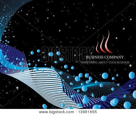 Abstract vector business background on sea theme
