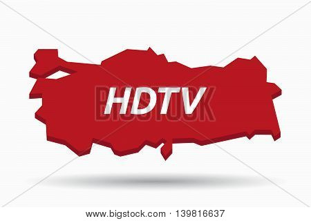 Isolated Turkey Map With    The Text Hdtv