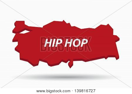 Isolated Turkey Map With    The Text Hip Hop