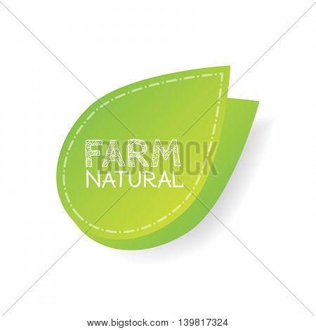 farm label over green background. vector illustration.