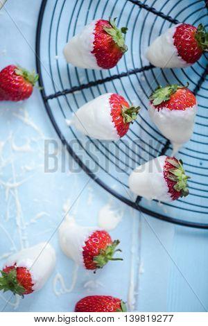 Strawberries In White Chocolate