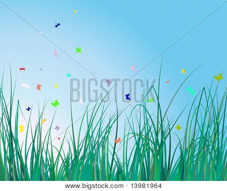 Vector illustration grass background for design usage