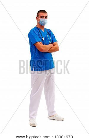 Confident Doctor Standing