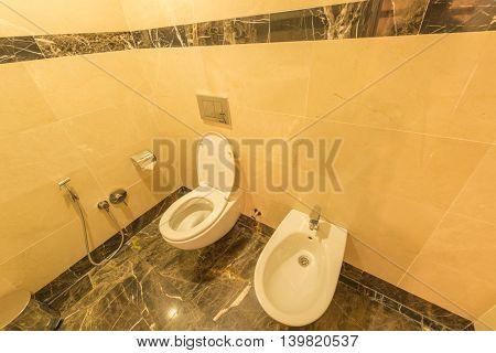 Toilet of modern interior design