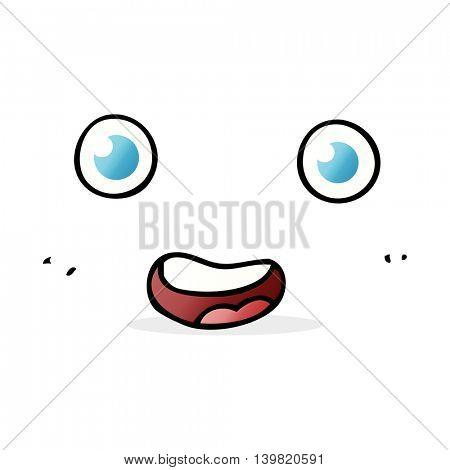 cartoon staring face