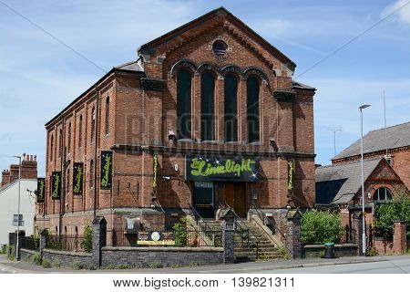 CREWE, UK - JUNE 16, 2016: The limelight night club / entertainment venue in Crewe, Cheshire, UK
