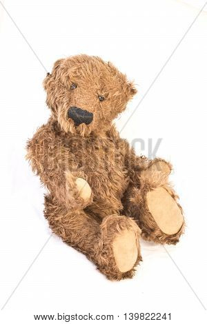 Old Antique Teddy Bear Isolated on a Background